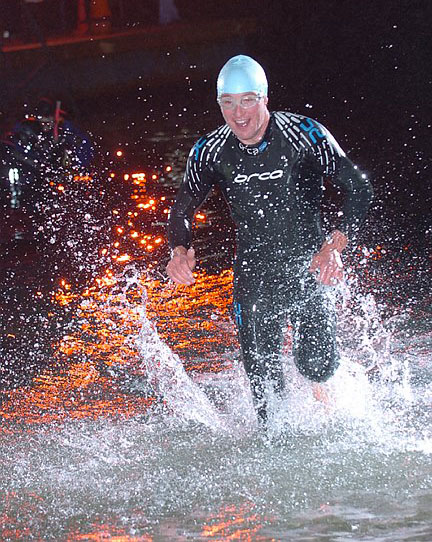 Competitive Open Water Swimming at Night. (2)
