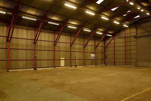 Storage industrial building, the everyday scene. BTS.