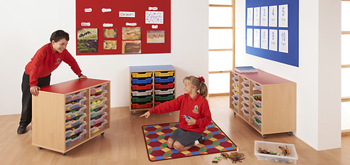 School Storage and Display Equipment Set