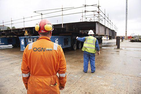 Platform being manouvered under supervision