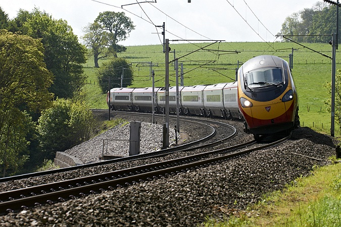 Commercial Photographer, Rail photography, Pendolino 390, Bessy Ghyll, West Coast Line, Virgin rail, Cumbria, UK,