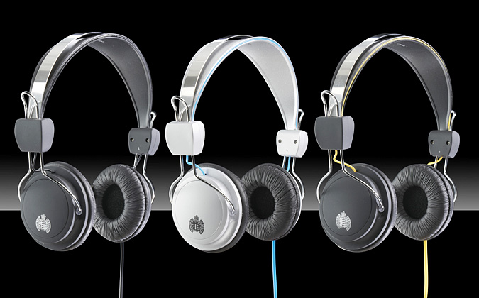 Commercial Photographer, product photography, headphones, group shot, MOS, Ministry of Sound, UK