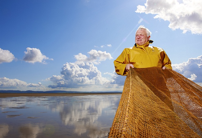 commercial Photographer, fishermen portrait, shrimp fishermen, morecambe bay, lancashire, uk